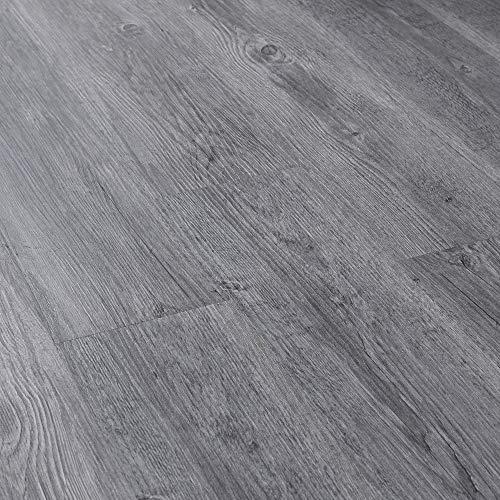 [neu.haus] Suelo de vinilo autoadhesivo set ahorro (4m²) roble gris (28 láminas de PVC = 3,92 m²) suelo de diseño estructurado
