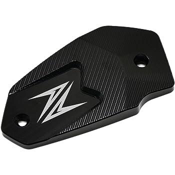 Moto CNC Aluminum Avant Couvercle Réservoir de Liquide Frein pour Kawasaki Z900 2017 Z800 2013-2016 Z650 2017 Versys650 2007-2017 ER6N 2009-2016 ER6F 2009-2016 Ninja650 (Noir)