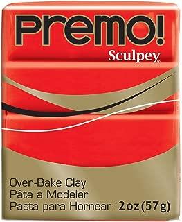 Premo Sculpey Polymer Clay 2 Ounces-Cadmium Red