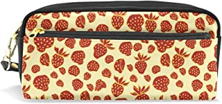 Waterproof Travel Toiletry Pouch,Pencil Pen Case Multi-functional Cosmetic Makeup Bag, Fashion Zipper Pouch Purse Dole Mixed Fruit Picture