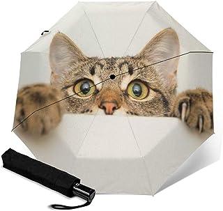 猫 1 折叠伞 一键自动开合【最新版&2层构造】抗强风 超防水 210t高强度玻璃纤维 防紫外线 隔热 结实 带伞套