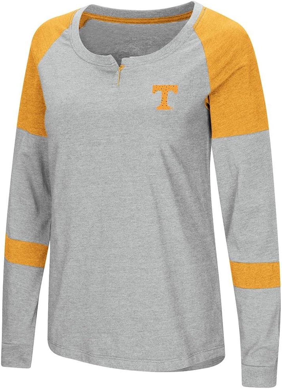 Ladies Tennessee Volunteers Grey Smaller Fit Dgoldthy Long Sleeve Raglan T Shirt