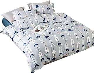 blue and grey twin bedding