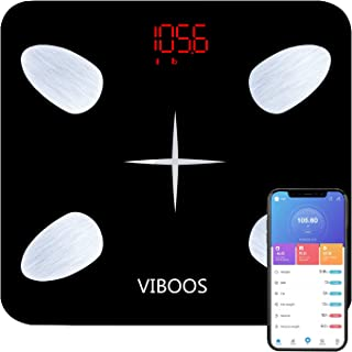 Body Fat Scale,Bathroom Scale and Smart BMI Scale, Highly Accurate Digital Wireless Weight Scale, Precisely Measures Weight up to 396 lbs