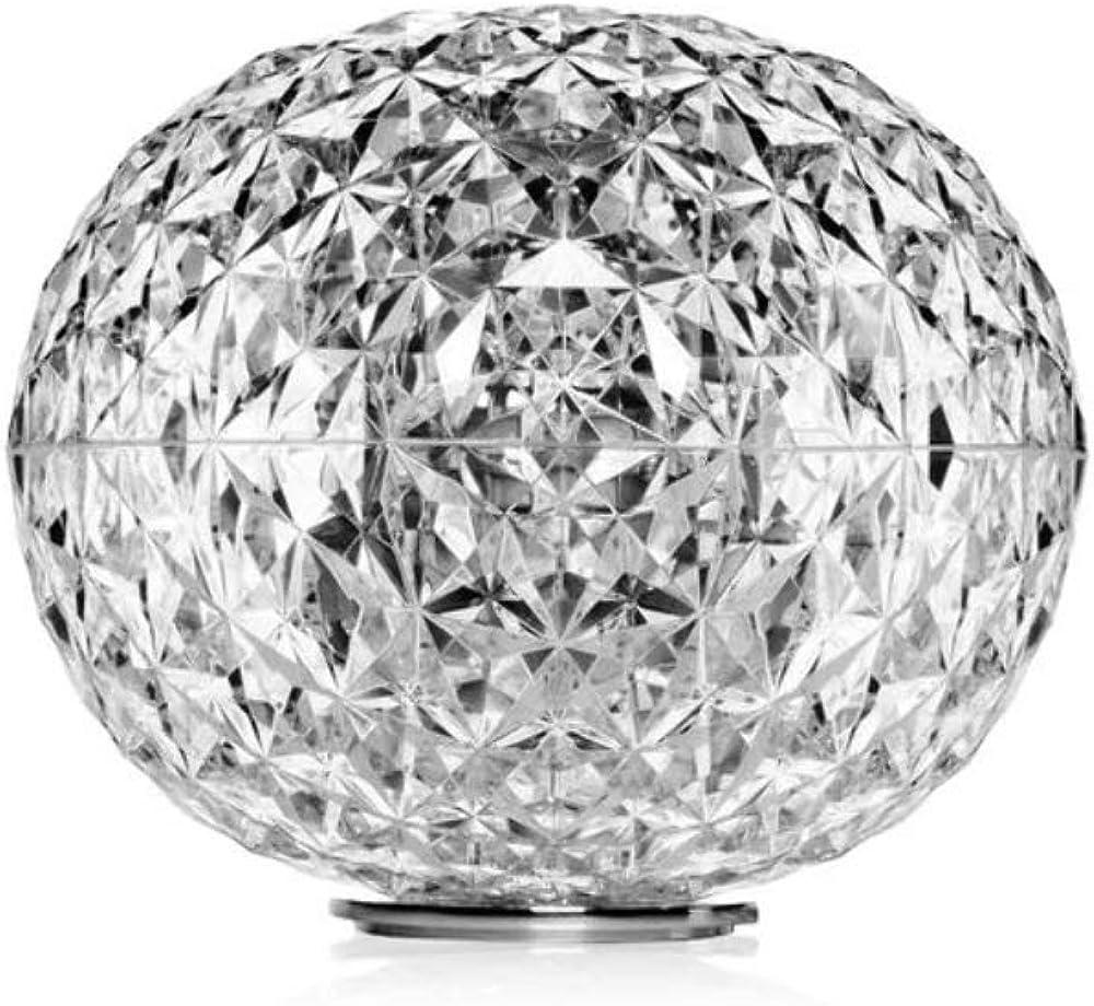 Kartell planet lampada da appoggio 22 w,in cristallo con struttura in metallo 9386B4