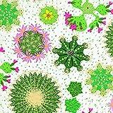 20Servilletas Cactus Cactus relieve, 3capas, 33x 33cm