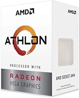 AMD Athlon 200GE 2-Core 4-Thread AM4 Socket Desktop Processor with Radeon Vega Graphics (YD200GC6FBBOX)