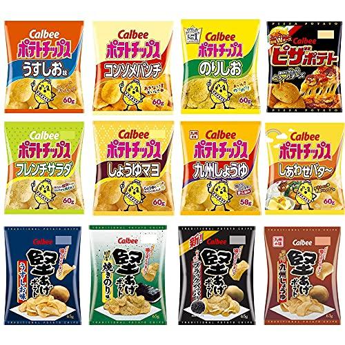 カルビー スナック菓子 詰め合わせ セット ポテトチップス 堅あげポテト ピザポテト12種類 ×各1個