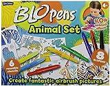 BLO pen - Gioco creativo 'Animals', include 8 pennarelli colorati e 6 stencil riutilizzabili