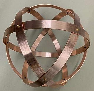 Genesa Crystal Rame 32cm di diametro, fasce larghe 25mm e sspesse 2mm, fissate con dadi ciechi in ottone.