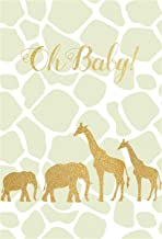 Yeele Safari Baby Shower Backdrop 4x6ft Golden Elephants Giraffe Photography Background Newborn Infant Baby Portrait Photo Booth Photoshoot Props Digital Wallpaper