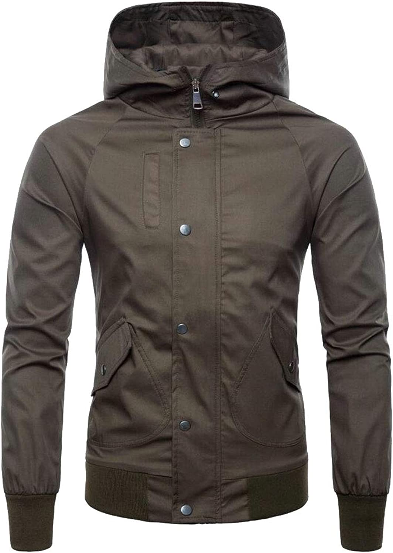 3fb31690b7 Maweisong Men Hooded Windbreaker Windbreaker Windbreaker Outdoor Windproof  Sportswear Outwear Jacket Coat 06d602