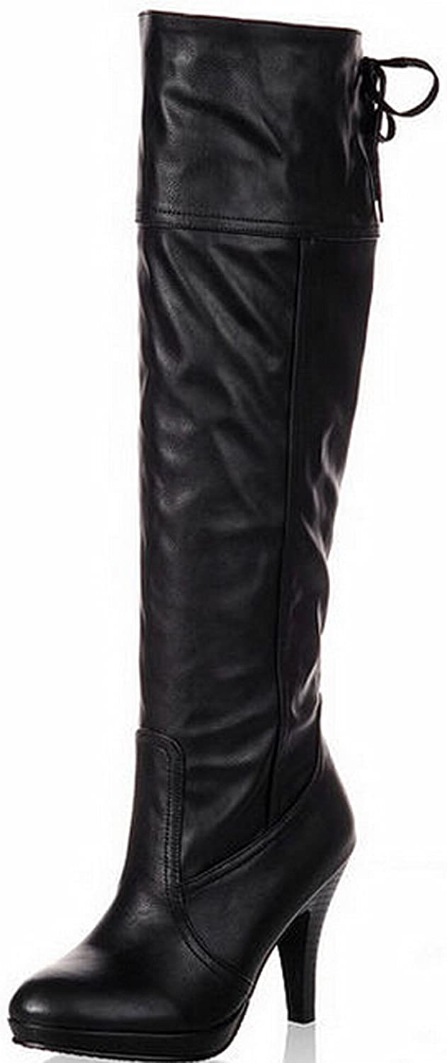 Fashion women knee high boots high heel motorcycle boots