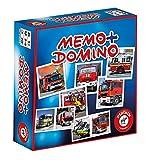 Piatnik 6596 - Kompaktspiel Memo Domino - Feuerwehr