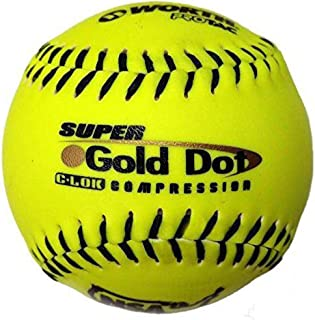 Worth Sports SYCO *金色圆点 W00610536 垒球 30.48 cm 图标,黄色