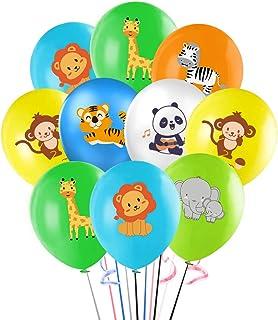"Jungle Safari Animals Balloons, 12"" Animals Latex Balloon for Kids Baby Shower Birthday Party Supplies Decorations"