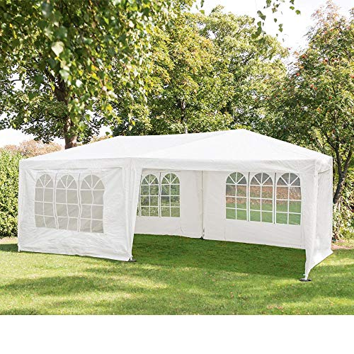 Jawoll Party-Zelt 3x6m weiß mit Seitenwänden Bierzelt Sonnenschutz Gartenzelt