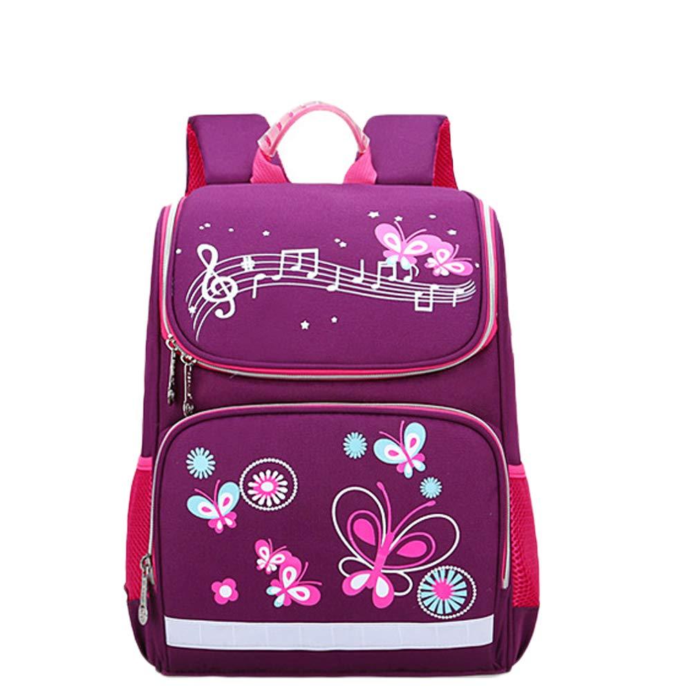 芊菲雅 儿童书包 太空书包儿童双肩包小学生减负护脊大容量背包 (紫色, 大号)