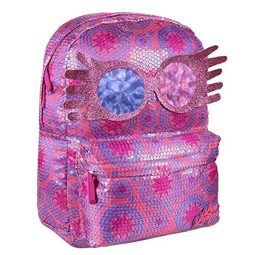 Artesania Cerda Mochila Casual Lentejuelas Harry Potter Luna Lovegood Schulrucksack, 42 cm, Pink (Rosa)