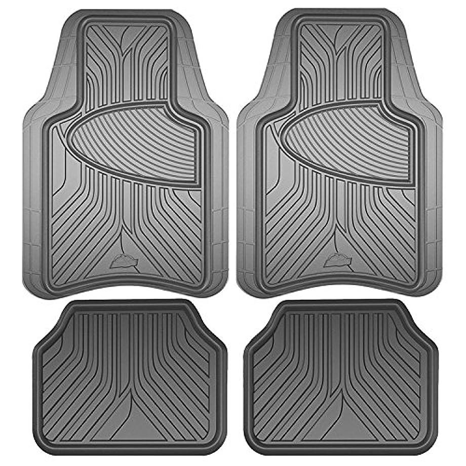 Armor All 78847 Grey Rubber Interior Floor Mat, 4 Piece