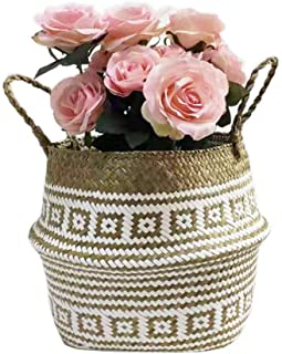 LayTmore Wicker Basket Gift Baskets Empty Oval Willow Woven Picnic Basket Storage Decoration