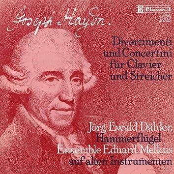 J. Haydn: Divertimenti & Concertini for Pianoforte and Strings