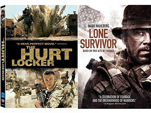 Hurt Locker DVD & Lone Survivor True Story Courage Movie Bundle Set