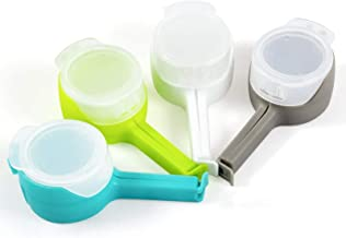 Bag Clips for Food, Seal Pour Food Storage Bag Clip with Pour Spouts Airtight Plastic Large for Kitchen Snack, Chips, Dog ...