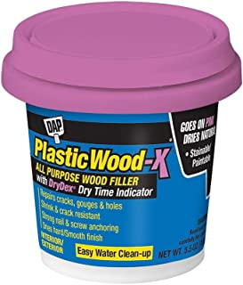 DAP 00540 5.5 Oz Natural Plastic Wood-X Stainable Wood Filler with DryDex Dry Time Indicator