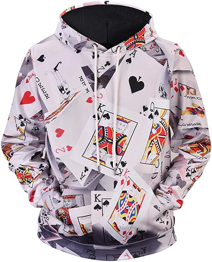 Honeystore Funny Hoodies 新作からSALEアイテム等お得な商品 満載 3D 正規激安 Print Sweatshirt Casual Hoo Athletic