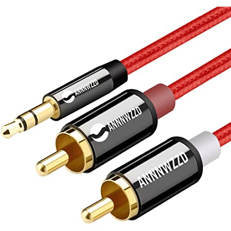 LINKINPERK 3,5mm Stéréo Jack vers 2 RCA,Câble RCA Jack Audio Y Auxiliaire Audio Stéréo Câble (2M)