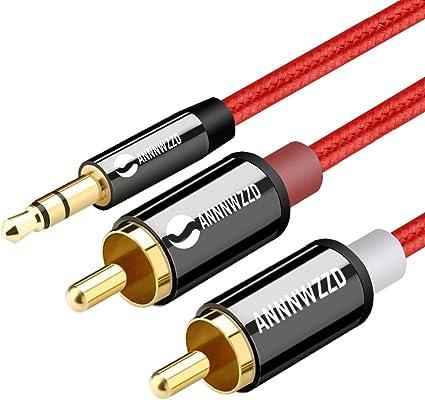 Linkinperk Cinch Kabel 2 Cinch Stecker Auf 3 5 Mm Elektronik