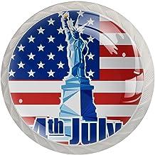 Lade handgrepen trekken ronde kristallen glazen kast knoppen keuken kast handvat,vierde juli onafhankelijkheid dag