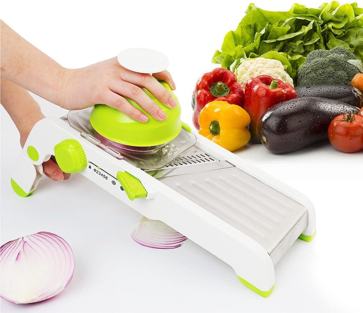 Mandoline Slicer Vegetable Slicer Vegetable Graters, Adjustable Thickness Shape Stainless Steel Slicer Cutter Potato Chip Onion Apple Food Slicer
