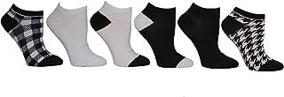 Women's Low Cut Socks, Black and White, 9-11