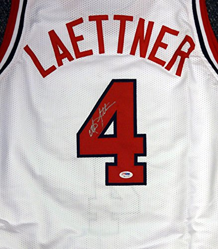 Christian Laettner Autographed Team USA White Jersey PSA/DNA