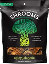 Shrooms Vegan Mushroom Crisps | Superfood Snack Made with Fresh Mushrooms | Non-GMO, Dairy, Gluten, Soy, and Trans Fat Free | Spicy Jalapeno