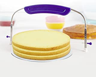D DOLITY Stainless Steel Cake Cutter Stainless Steel Saw Adjustable Cake Saw Leveler