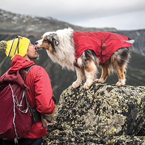 Kurgo North Country Dog Coat, Dog Winter Jacket, Waterproof Dog Jacket, Dog Snow Jacket and Windproof Dog Coat, Reflective Dog Fleece, Red, Large