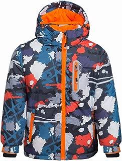 Boy's Waterproof Winter Coat Mountain Snow Ski Fleece Jacket Thick Warm Detachable Hood Windproof Rain Coats