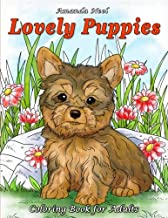 Lovely Puppies: Coloring Book for Adults