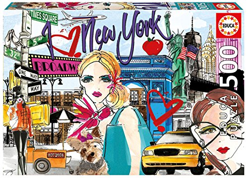 Educa Borrás- Chic Puzzle 500 Llévame New York 17649