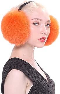 URSFUR Women Winter Fur Earmuffs Unisex Warm Outdoor Plush Earmuffs with Headphone Line