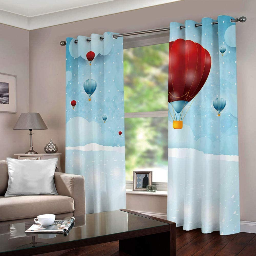 ZCLCHQ 3D Curtain Omaha Mall for Bedroom Genuine Free Shipping Cur Room CartoonBalloon Darkening