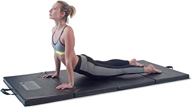 "Ultimate Body Press Exercise and Yoga Mat - 6'4"" x 3' x 2"" - Four Panel Folding Mat with Premium Materials and Foam - Sized Right for Your Fitness"