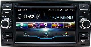SWTNVIN Android 10.0 Autoradio Headunit passend für Ford Focus Fusion Transit Fiesta Galaxy DVD Player Radio 7 Zoll HD Touchscreen GPS Navigation mit Bluetooth WiFi SWC DSP 2 GB + 80 GB (Schwarz06)