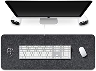 "Extended Gaming Mouse Pad,Corey-z Non-slip Rubber Base Big Mousepad with Soft Felt Cloth,Ergonomic Thick Keyboard Mat for Office,Home,Gamer,Writing (Black Gray, 31.3""x11.8""x0.12"")"