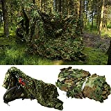 3 x 5m Filet de Camouflage Extérieur, Filet de Camouflage Jungle Léger en Tissu Oxford...
