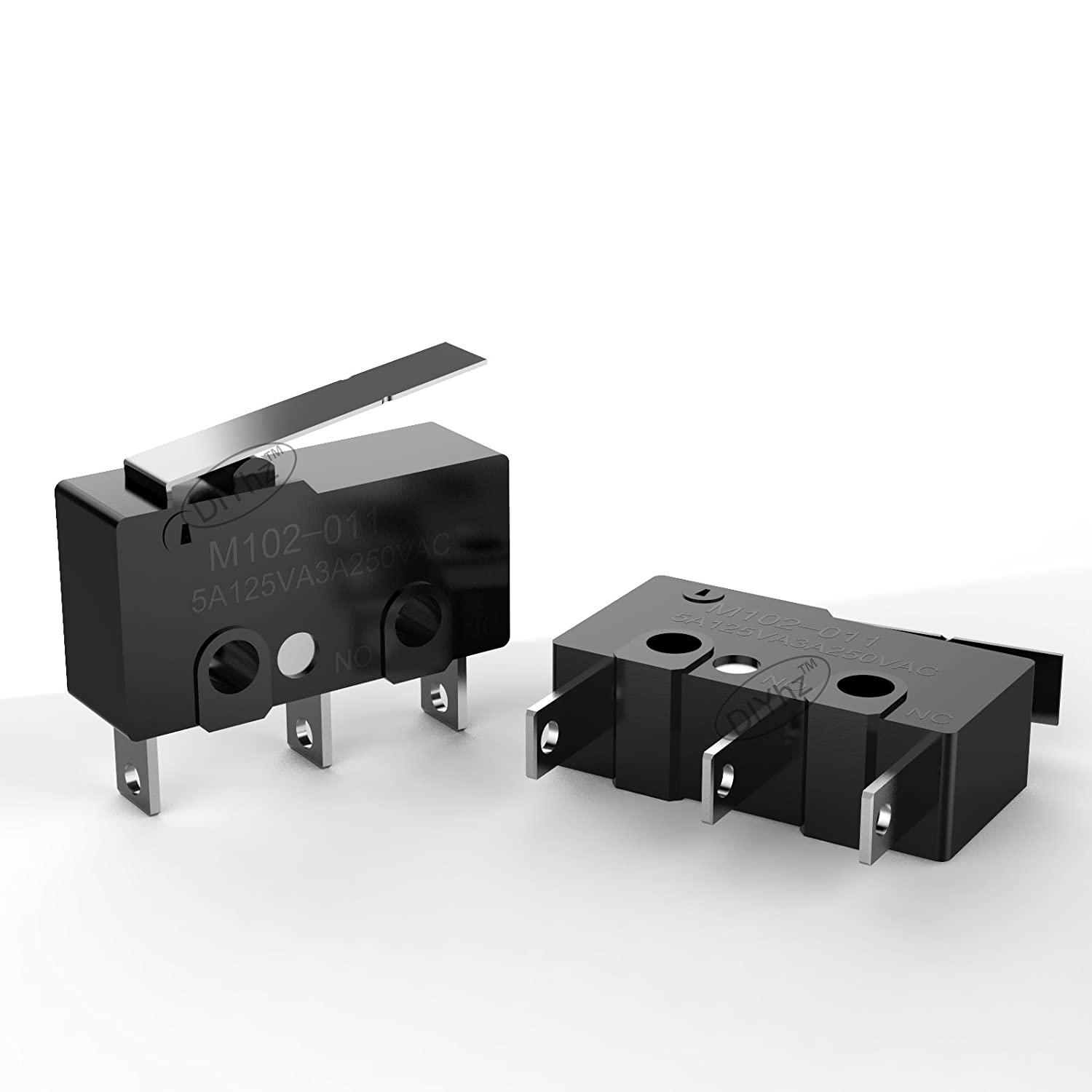 Momentary SPDT 3 Pins Micro Switches Long Hinge Lever AC 125V 1A ...