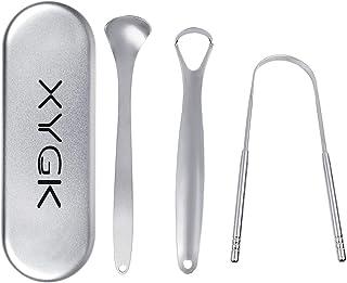 Conjunto de raspador limpiador de lengua, XYGK tres piezas de raspador de lengua al acero inoxidable por limpieza de lengu...